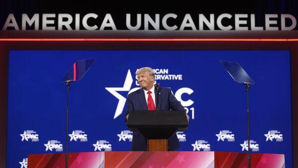ABD'nin eski Başkanı Donald Trump, Kasım 2020'deki başkanlık seçimlerinden sonra ilk kez konuşma yaptı. - Sputnik Türkiye
