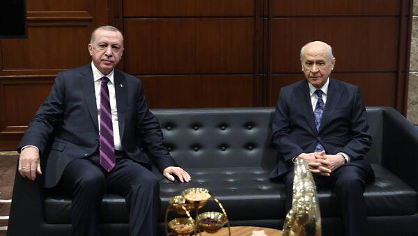 Cumhurbaşkanı Erdoğan, MHP lideri Bahçeli ile görüştü - Sputnik Türkiye