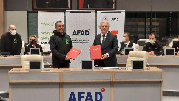 AFAD ile Ahbap Platformu arasında işbirliği protokolü imzalandı - Sputnik Türkiye
