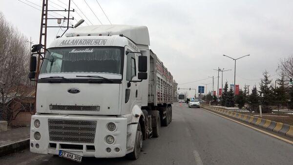 kaçak göçmenlerin olduğu TIR, Van - Sputnik Türkiye