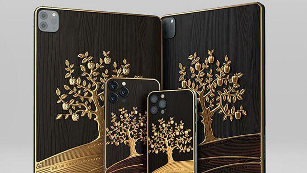Rusya'da üzerinde 1 kilogramdan fazla altın bulunan lüks Apple iPad Pro üretildi - Sputnik Türkiye
