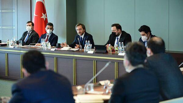 İletişim Başkanı Altun, basın müşavirleri ile bir araya geldi - Sputnik Türkiye