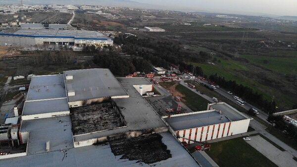 Tuzla'da yanan et fabrikası - Sputnik Türkiye