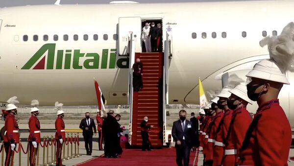 Katolik aleminin ruhani lideri Papa Francis, Irak'ta - Sputnik Türkiye