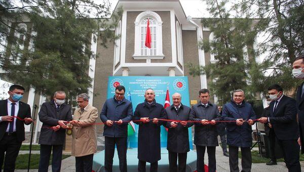 Mevlüt Çavuşoğlu, Türkiye'nin Semerkant Başkonsolosluğu, açılış - Sputnik Türkiye
