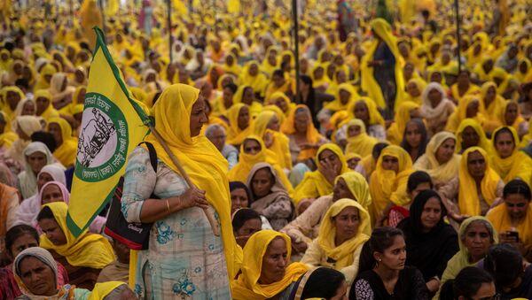 Hindistan - protesto - kadın - Sputnik Türkiye