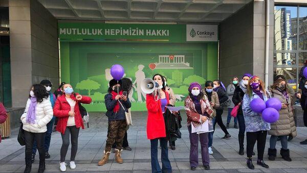 Ankara'da kadınlar günü - Sputnik Türkiye