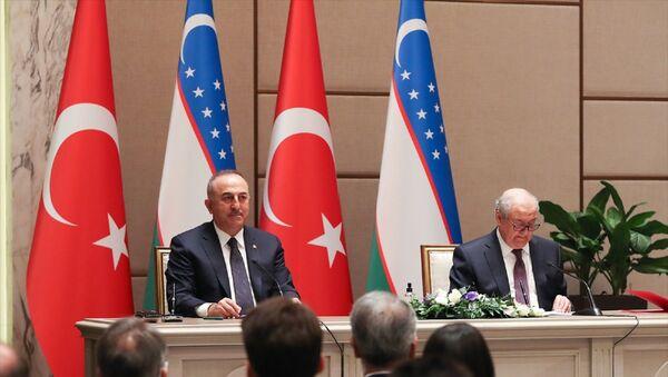 Dışişleri Bakanı Mevlüt Çavuşoğlu, Özbekistan Dışişleri Bakanı Abdulaziz Kamilov - Sputnik Türkiye