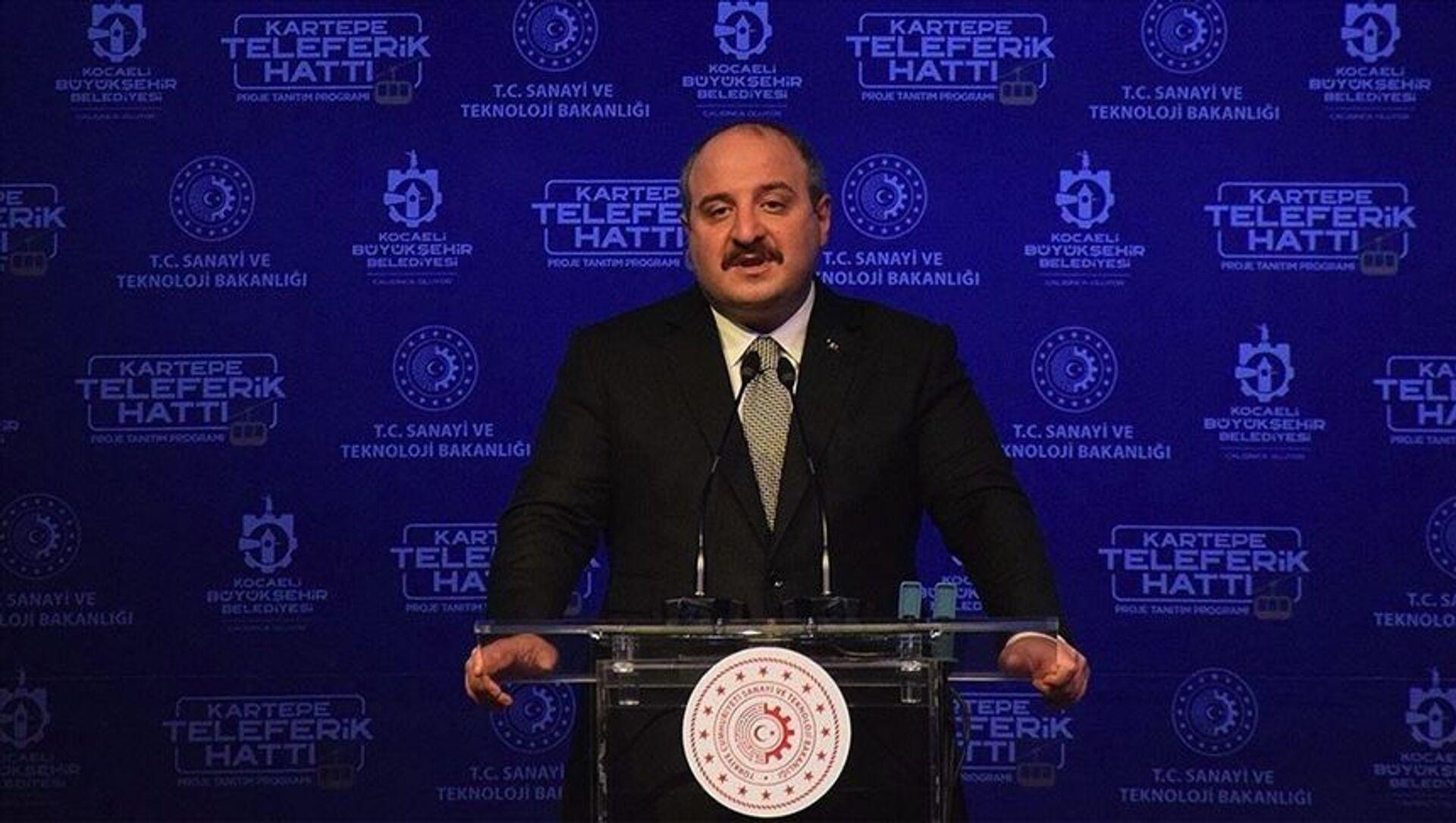 Sanayi ve Teknoloji Bakanı Mustafa Varank, Kocaeli`de - Sputnik Türkiye, 1920, 17.04.2021