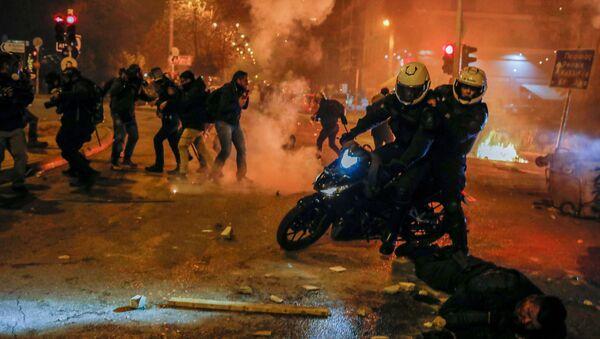 Atina'da protesto gösterileri - Sputnik Türkiye