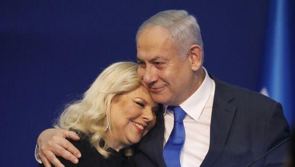 Benyamin Netanyahu ve eşi Sara Netanyahu - Sputnik Türkiye
