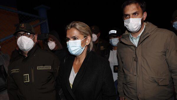 Bolivya'da askeri cunta lideri Anez'in, kaçmaya çalışırken bazaya saklandığı ortaya çıktı - Sputnik Türkiye