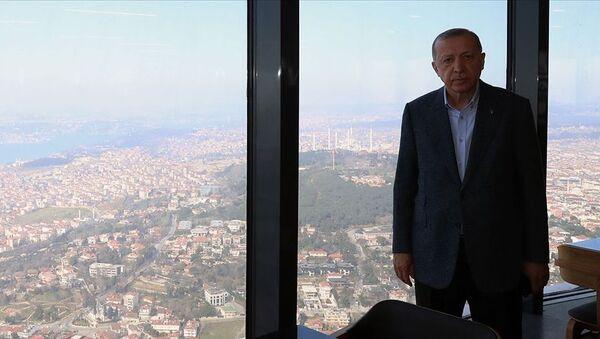 Cumhurbaşkanı Erdoğan Çamlıca Kulesi'nde incelemelerde bulundu - Sputnik Türkiye