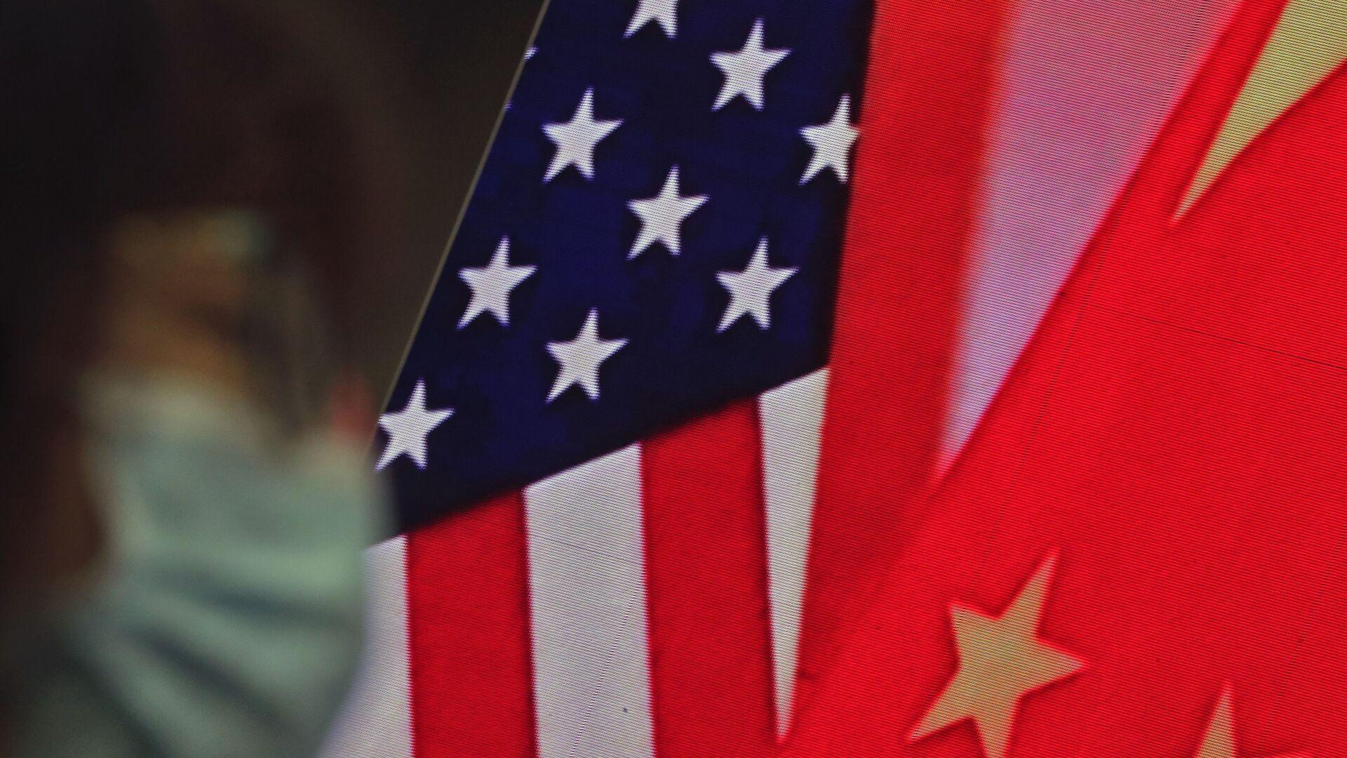 Çin-ABD Bayrak - Sputnik Türkiye, 1920, 06.08.2021