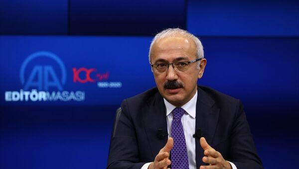 Hazine ve Maliye Bakanı Lütfi Elvan, Anadolu Ajansı (AA) Editör Masası'na konuk oldu. - Sputnik Türkiye