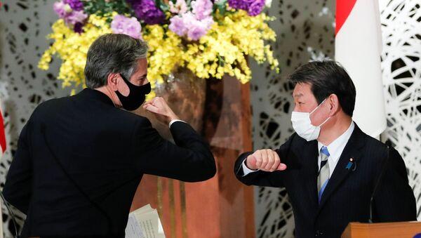 ABD Dışişleri Bakanı Antony Blinken ve Japon mevkidaşı Motegi Toşimitsu - Sputnik Türkiye