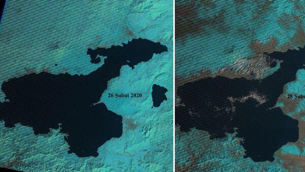 Van'daki kuraklık tehlikesi uydu görüntüleri - Sputnik Türkiye