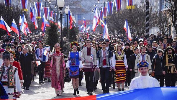 Kırım'ın Rusya'ya bağlanışının 7. yıldönümü kutlanıyor - Sputnik Türkiye