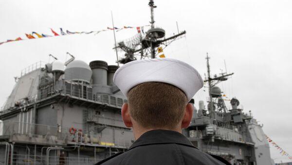 ABD Savaş Gemisi USS Monterey - Sputnik Türkiye