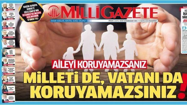 Milli Gazete, İstanbul Sözleşmesi'nin feshini 'tarihi başarı' olarak nitelendirdi - Sputnik Türkiye