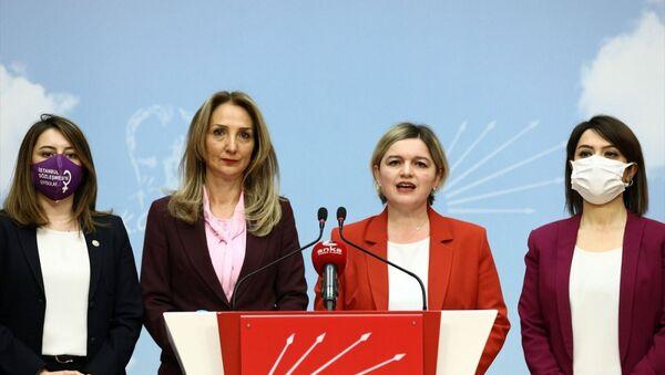 CHP'li kadın yöneticilerden İstanbul Sözleşmesi'ne ilişkin ortak açıklama - Sputnik Türkiye