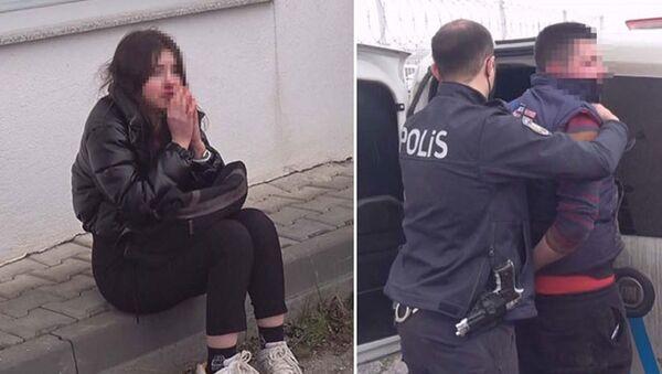Kütahya'da, E.Ü. (19) isimli genç kız, hakkında uzaklaştırma kararı bulunan eski sevgilisi Ö.K. (20) tarafından zorla araca bindirilerek, kaçırıldığı sırada, Kadın Destek Uygulaması (KADES) üzerinden yaptığı ihbar üzerine harekete geçen polis ekiplerince, kovalamaca sonucunda kurtarıldı.  - Sputnik Türkiye