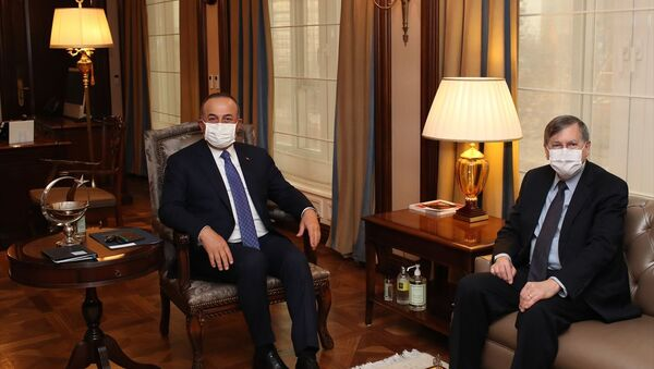Dışişleri Bakanı Mevlüt Çavuşoğlu, ABD'nin Ankara Büyükelçisi David Satterfield - Sputnik Türkiye