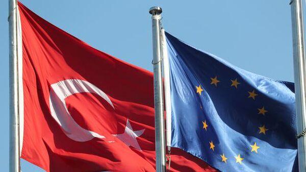 AB Türkiye bayrakları - Sputnik Türkiye