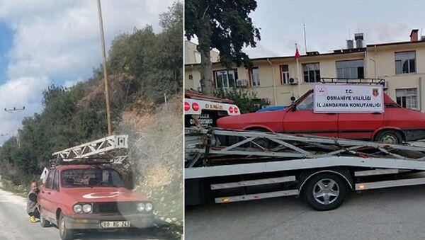 9 metrelik elektrik direğini çalarken yakalandı - Sputnik Türkiye