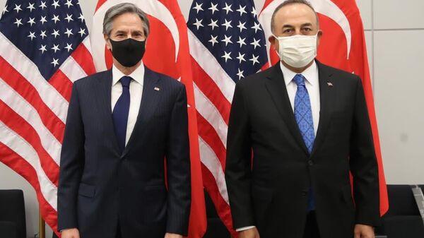 Dışişleri Bakanı Mevlüt Çavuşoğlu ve ABD Dışişleri Bakanı Blinken - Sputnik Türkiye