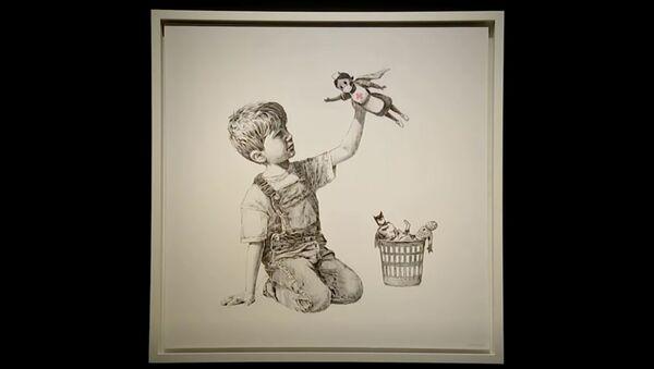 Banksy'nin 'Oyun Değiştirici' (Game Changer) isimli resmi - Sputnik Türkiye
