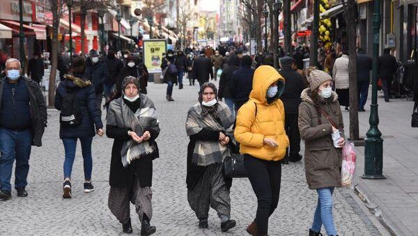 Eskişehir, koronavirüs, maske, cadde - Sputnik Türkiye
