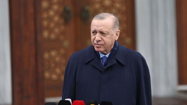 Recep Tayyip Erdoğan - cuma namazı - Sputnik Türkiye
