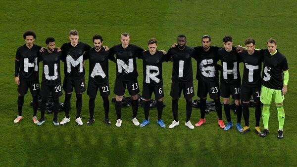 Alman milli takım futbolcularından Katar'a 'insan hakları' protestosu - Sputnik Türkiye
