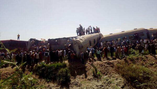 Mısır tren kazası - Sputnik Türkiye