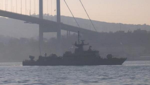 Yunan savaş gemisi İstanbul Boğazı'ndan geçti - Sputnik Türkiye