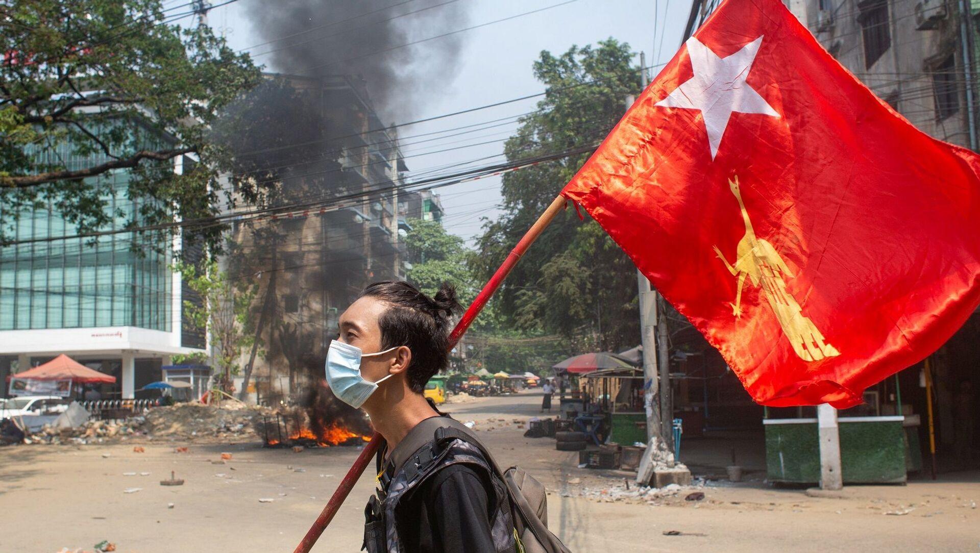 Myanmar - darbe - protesto - Sputnik Türkiye, 1920, 19.06.2021