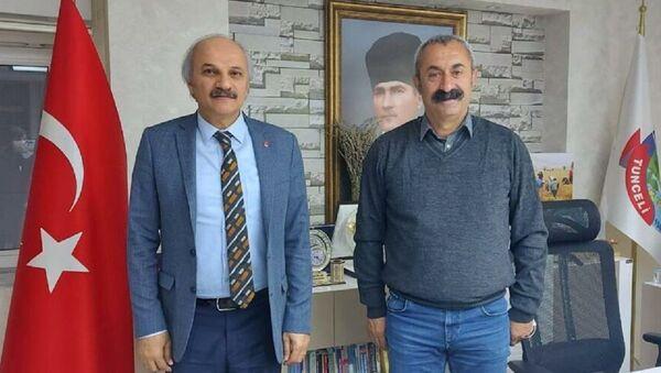 Saadet Partisi Sözcüsü Birol Aydın - Tunceli Belediye Başkanı Maçoğlu - Sputnik Türkiye