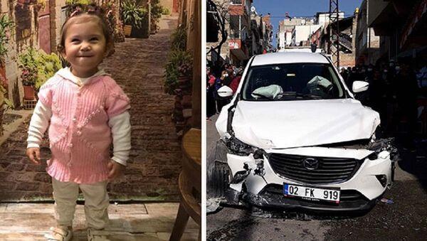 Sokakta oyun oynarken otomobilin çarptığı Ayşe Naz - Sputnik Türkiye