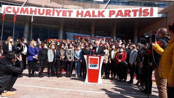 CHP'li kadınlar 'İstanbul Sözleşmesi' için Danıştay'a dava açtı - Sputnik Türkiye