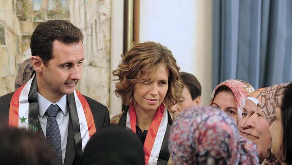 Beşar Esad ile eşi Esma Esad'ın P - Sputnik Türkiye