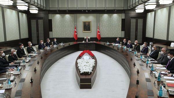 Milli Güvenlik Kurulu (MGK), Cumhurbaşkanı Recep Tayyip Erdoğan başkanlığında toplandı. - Sputnik Türkiye