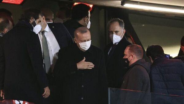 Cumhurbaşkanı Erdoğan, Türkiye - Letonya maçında - Sputnik Türkiye