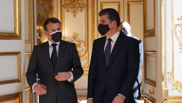 Emmanuel Macron- Neçirvan Barzani - Sputnik Türkiye