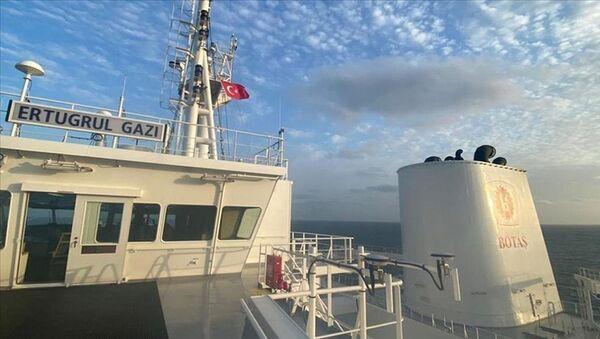 Türkiye'nin ilk yüzer LNG depolama ve gazlaştırma gemisi (FSRU) Ertuğrul Gazi - Sputnik Türkiye