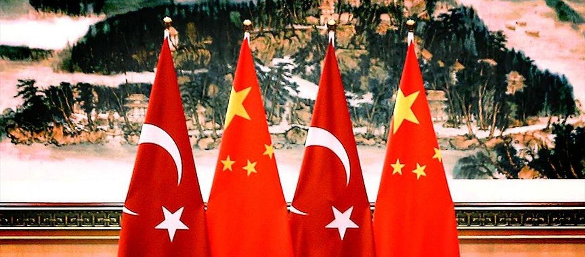 Çin- Türkiye- Bayrak  - Sputnik Türkiye, 1920, 07.04.2021