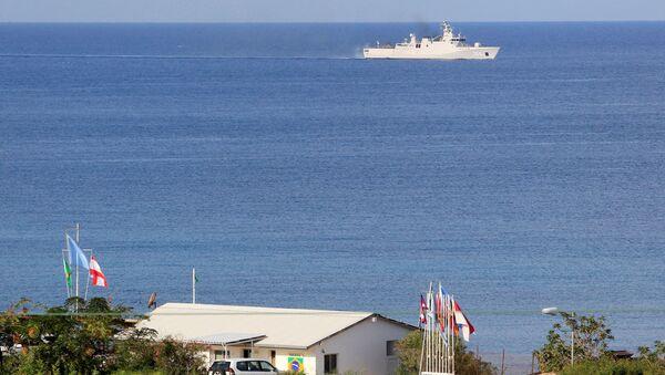Lübnan'ın güneyinde, İsrail sınırı yakınındaki Nakura'da BM barış gücü UNIFIL üssü - Sputnik Türkiye