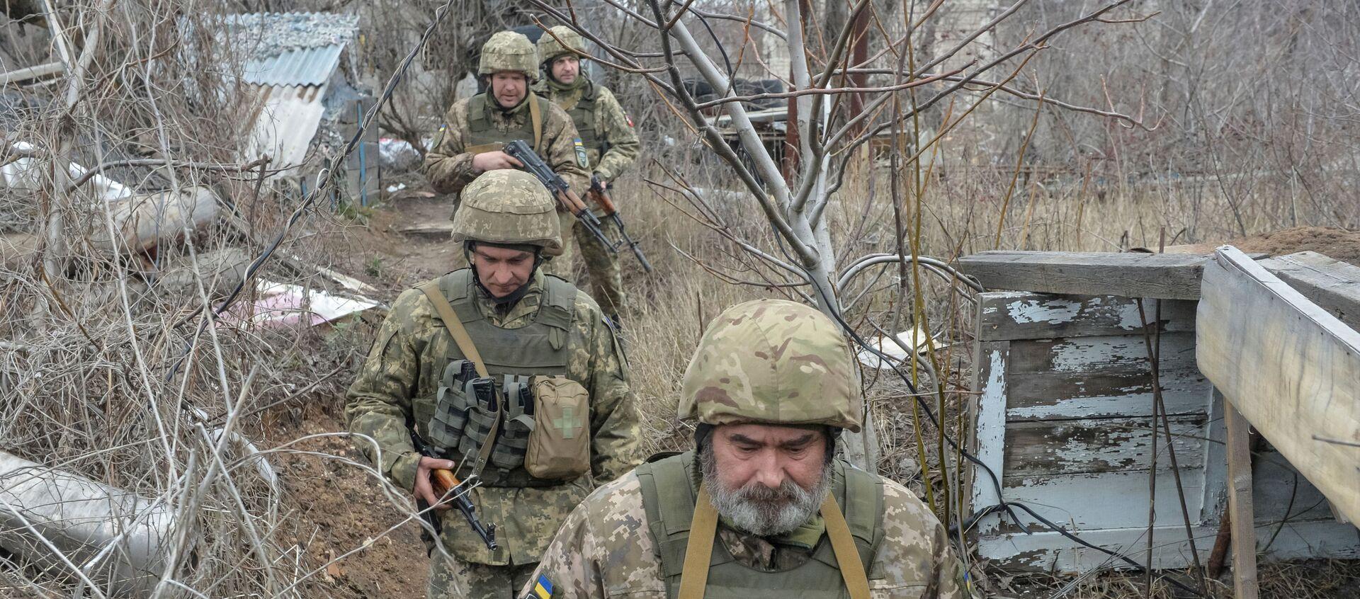 Donetsk yakınlarındaki Ukrayna askerleri - Sputnik Türkiye, 1920, 12.04.2021