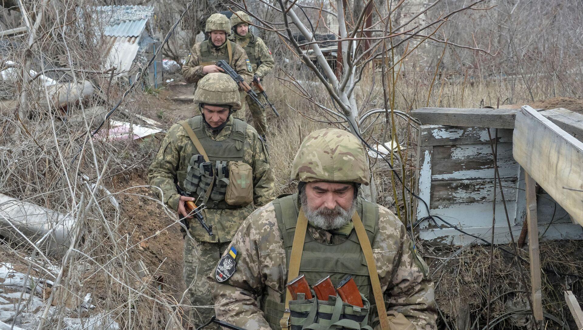 Donetsk yakınlarındaki Ukrayna askerleri - Sputnik Türkiye, 1920, 18.04.2021