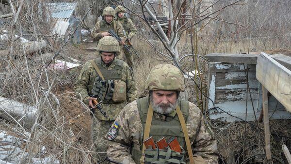 Donetsk yakınlarındaki Ukrayna askerleri - Sputnik Türkiye